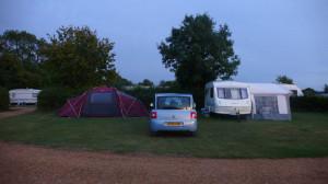 QTvan caravan at a camping park