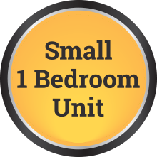 small 1 bedroom unit