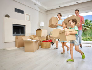 A family packing a home in Perth before moving.