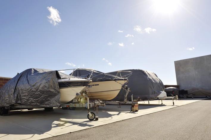 boats stored at Perth Metro Storage